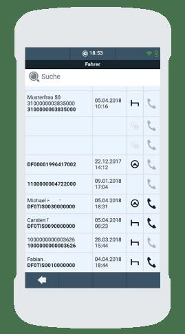 TISLOG office Infodesk2Go Fahrerliste